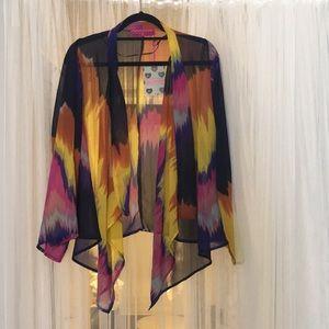 Brooklyn bright print Kimono